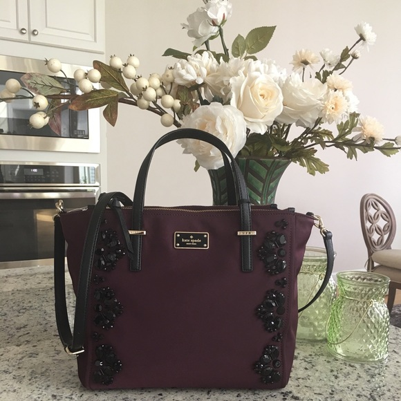 39a0853f38a3 Kate spade alyse embellished crossbody deep plum